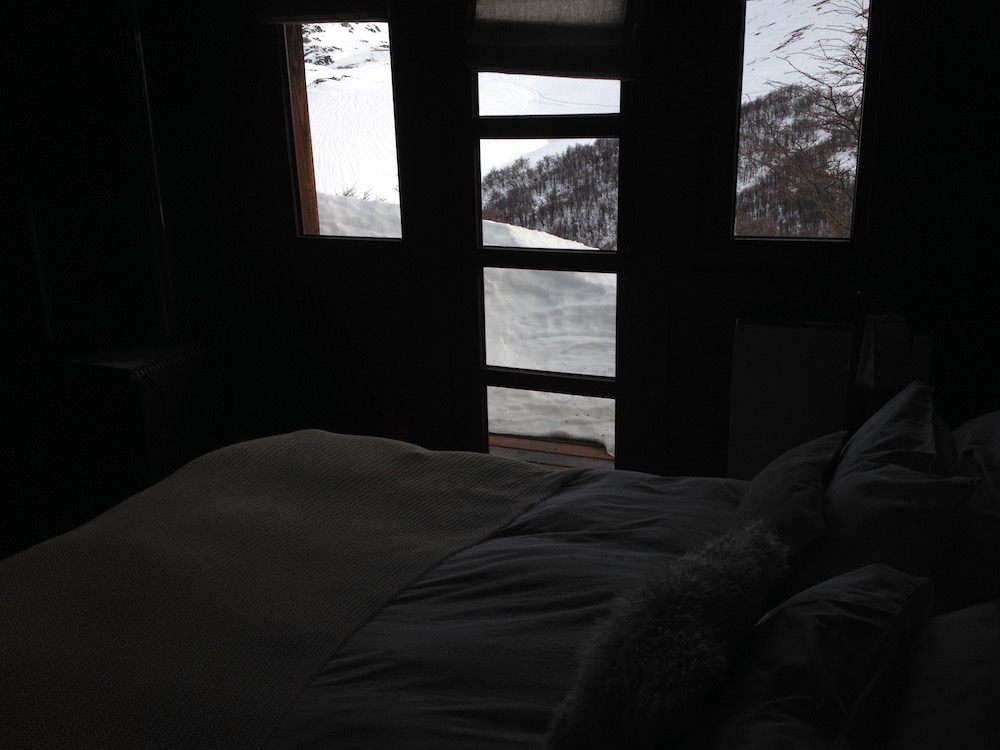 Rooms at Baguales are rustic and crazy comfy. photo: snowbrains