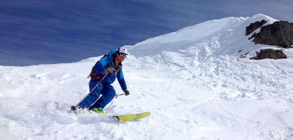 Guide Luciano tearing it up. photo: snowbrains