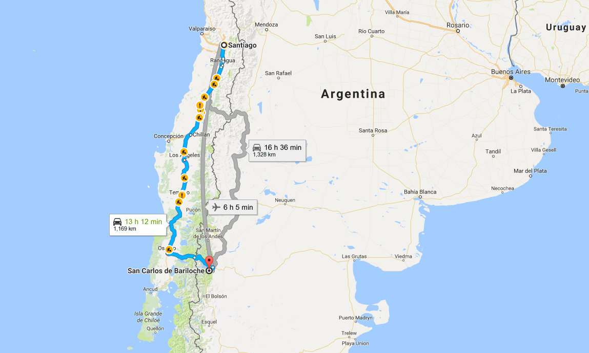 How To Get From Santiago Chile To Bariloche Argentina SnowBrains - Argentina map bariloche