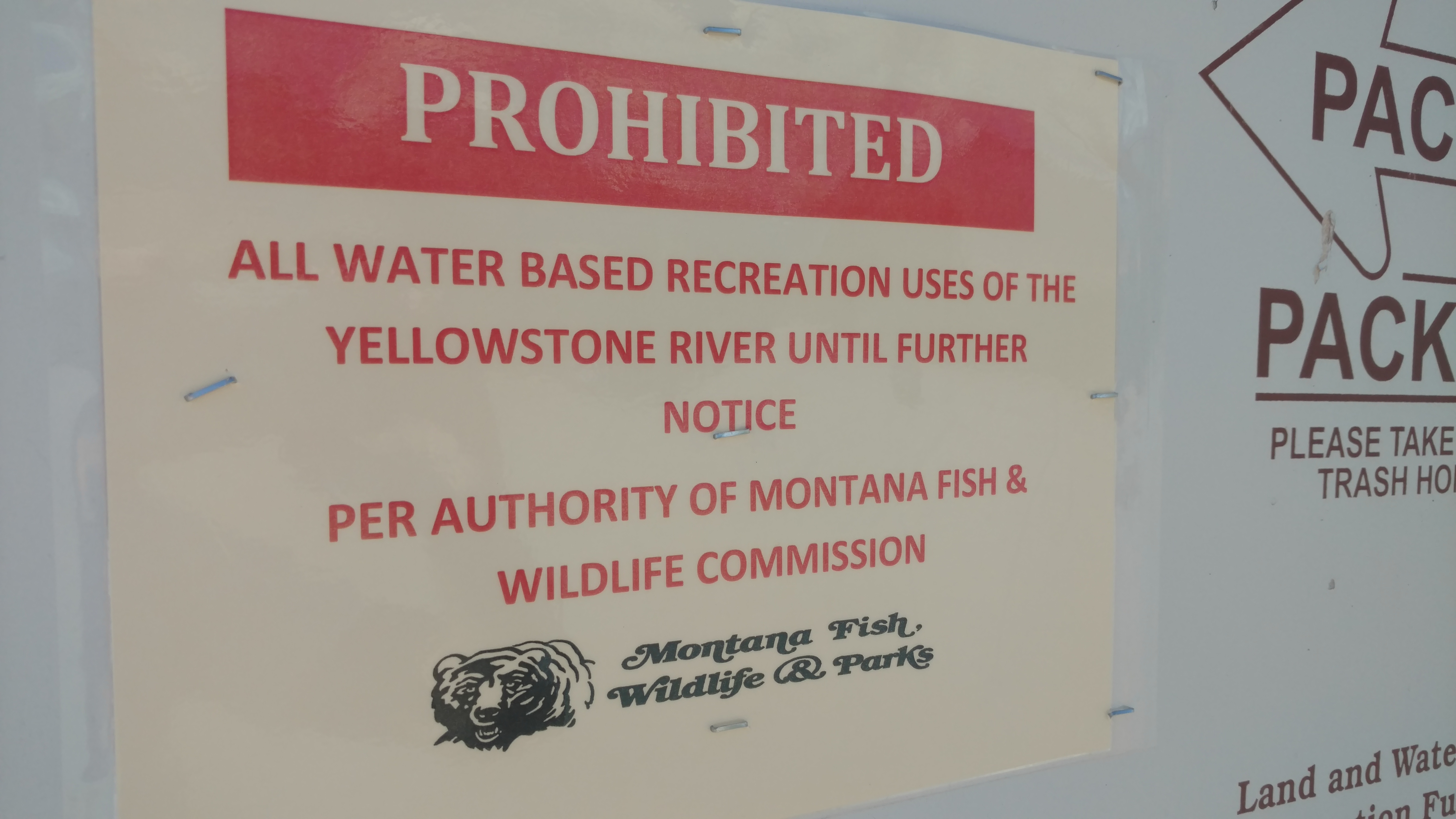 All recreation is closed at the Yellowstone River, MT.  photo:  ryan weaver/explorebigsky.com