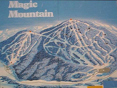 Old skool Magic Mountain trail map.