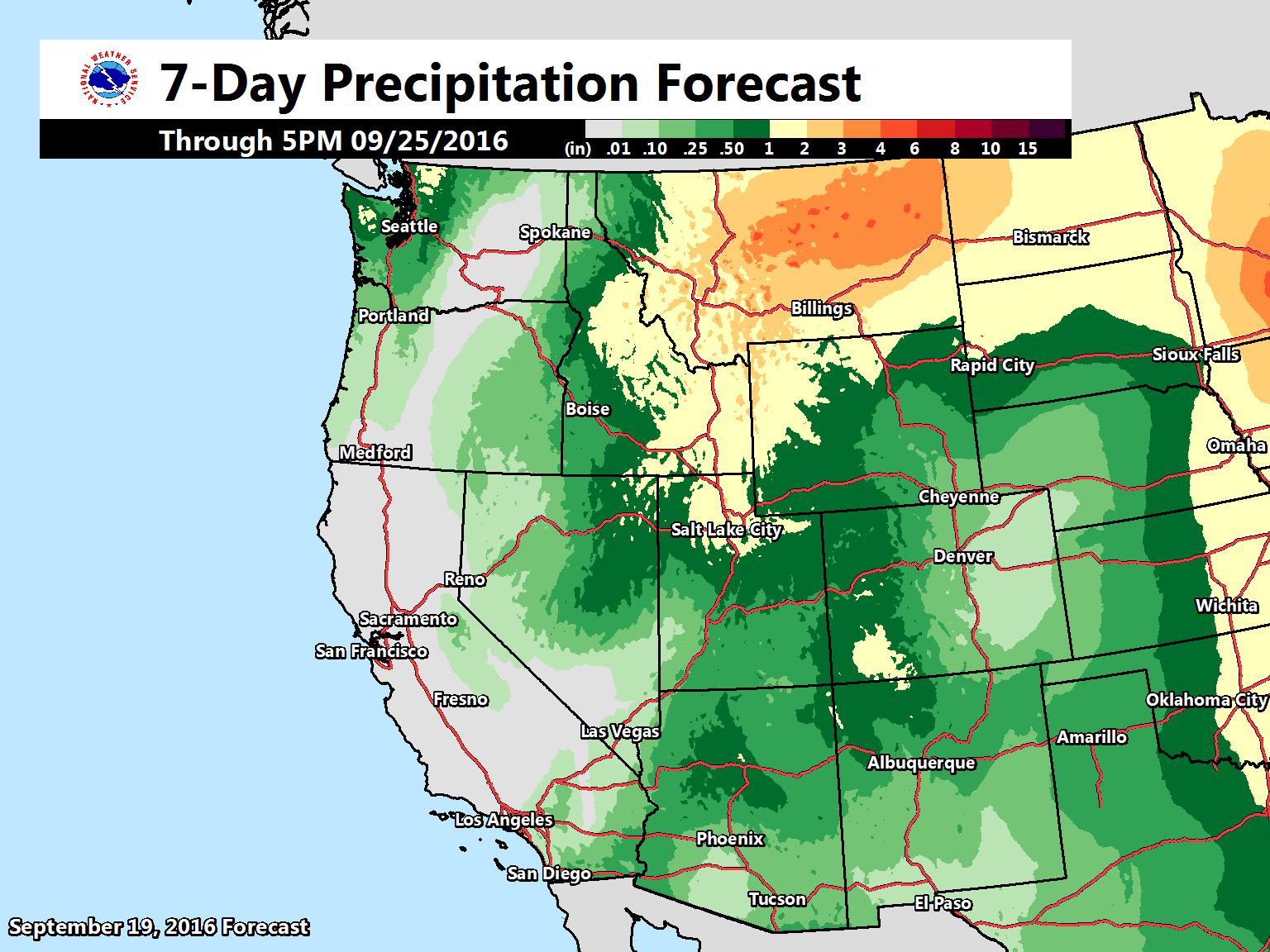 SNOW Forecast for Colorado Utah Wyoming Montana Idaho BC