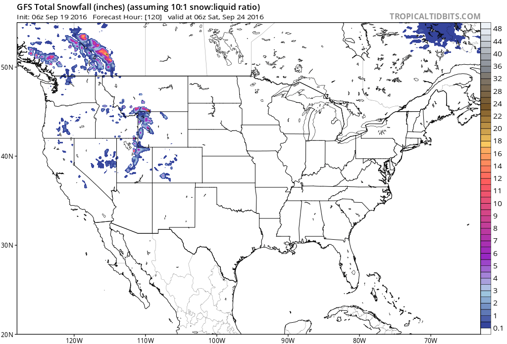 Utah And Idaho Map.Snow Forecast For Colorado Utah Wyoming Montana Idaho B C