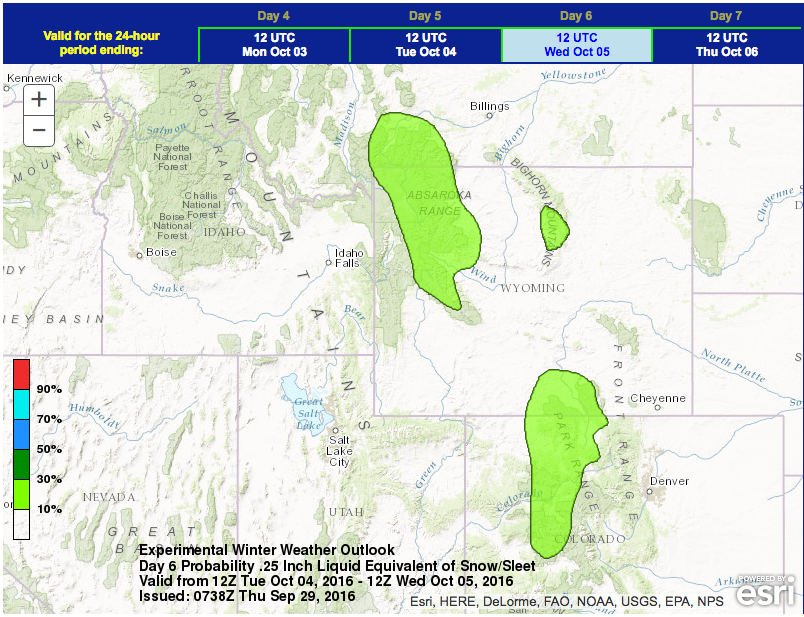 Rocky Mountains Wyoming Map.Significant Snow Possible For Rocky Mountains Next Week Colorado