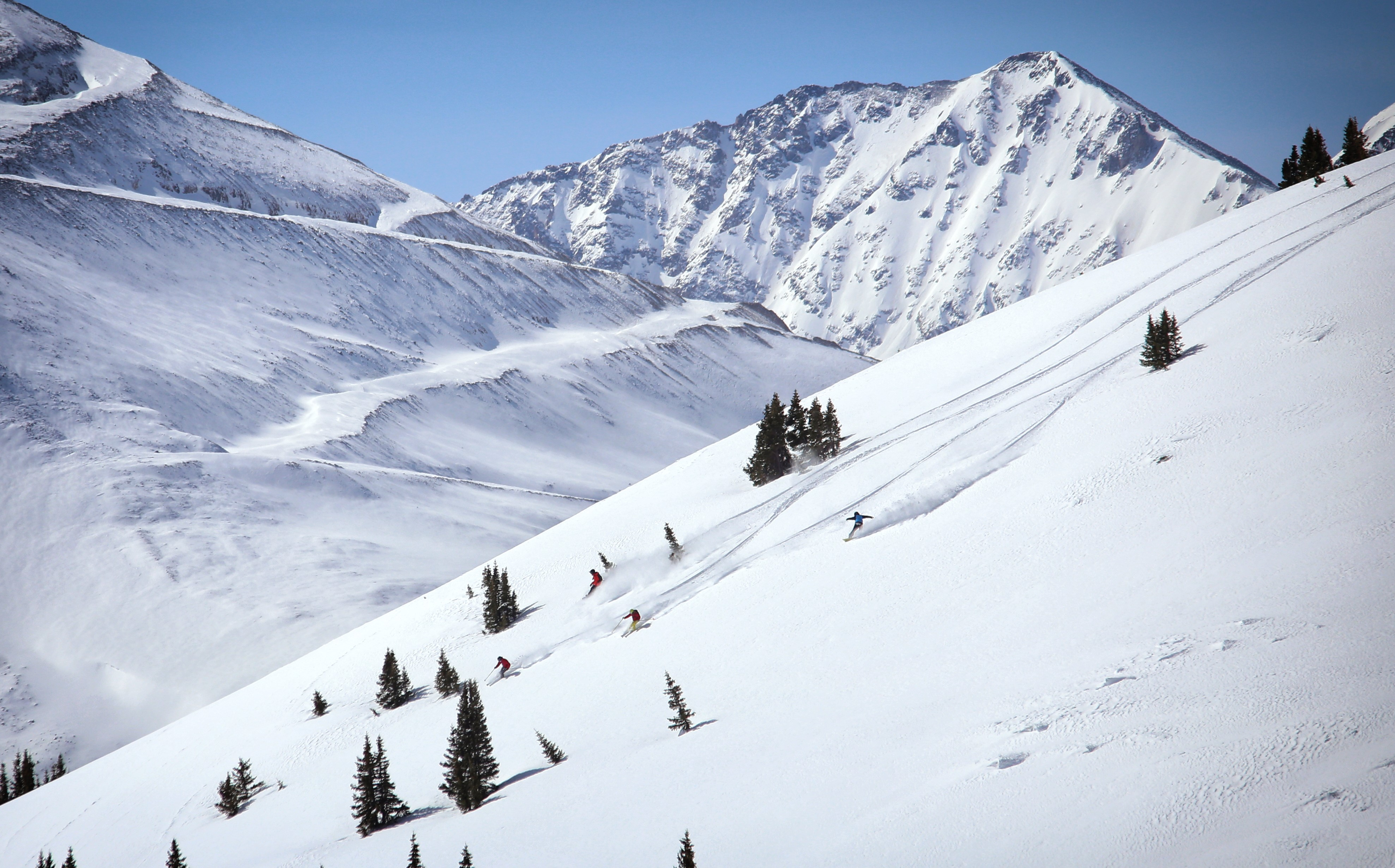 copper mountain offers free cat skiing on tucker mountain and copper