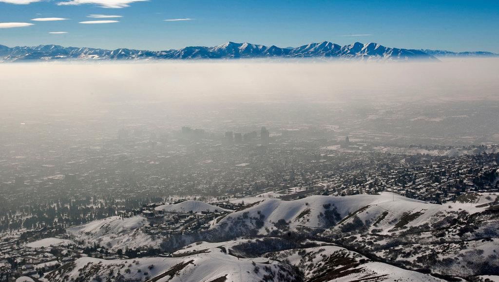 Bad air quality in Salt Lake County, Utah
