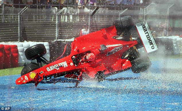 Michael Schumacher took some gnarly crashes in his F1 career.