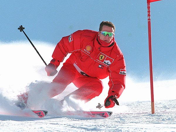 Michael Schumacher ripping the race course.