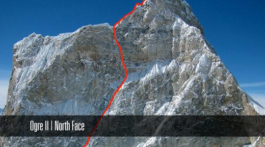 The north face of Ogre II.