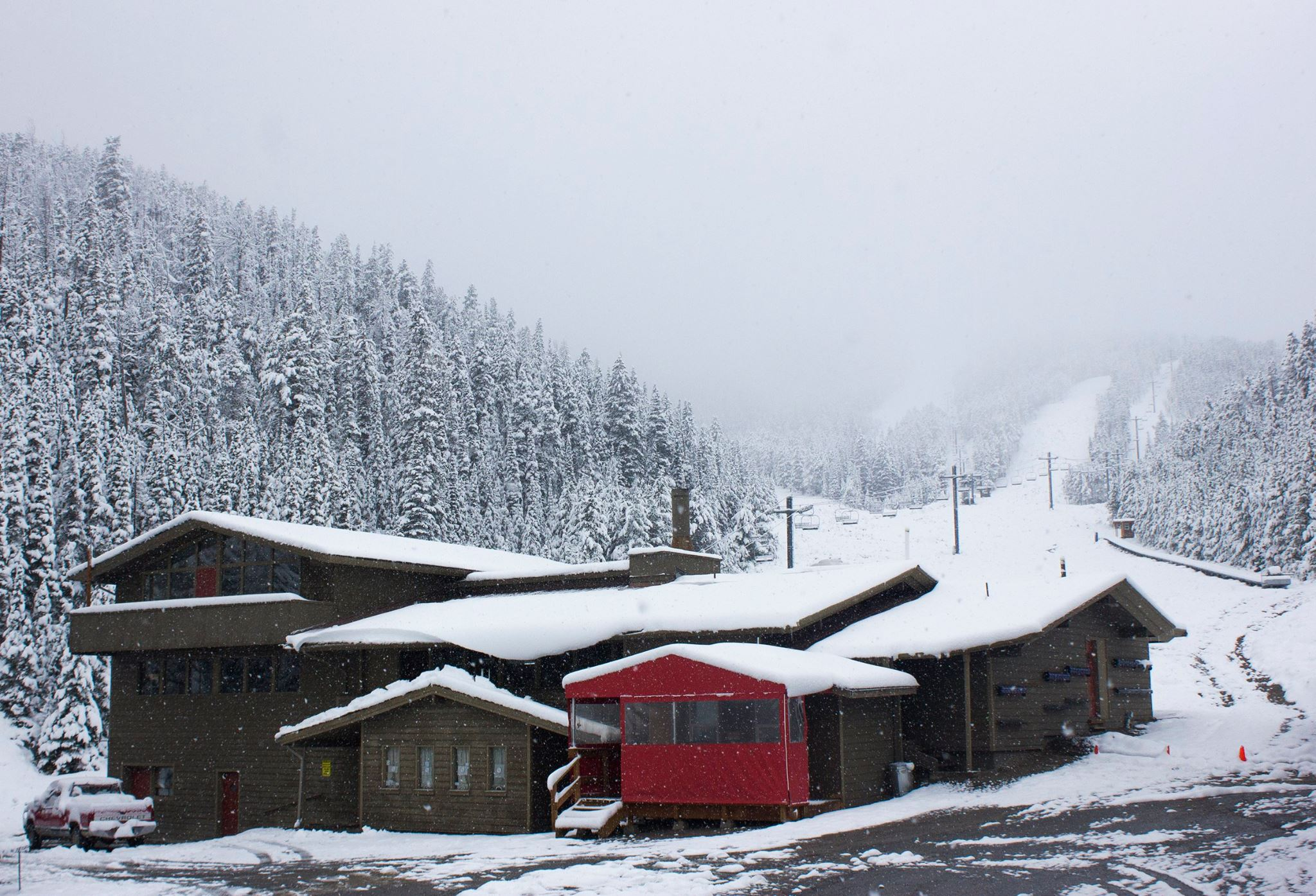 Red Mountain Lodge, MT yesterday. photo: red mountain lodge
