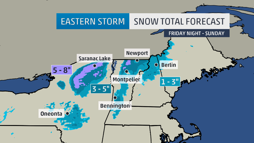 SNOW Forecast for Northeast USA This Weekend – Weather Channel Travel Map