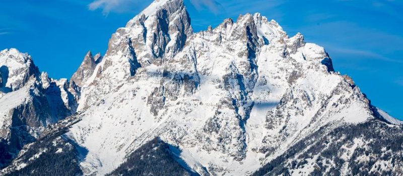 The Grand Tetons in all their early season, snow covered glory. Source; Jackson Hole Facebook Page.