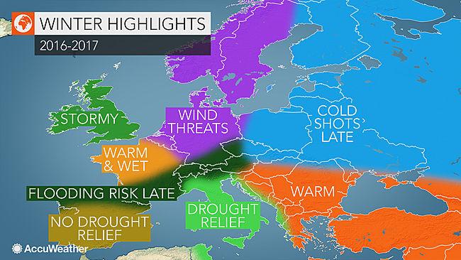 Europe winter long-term forecast