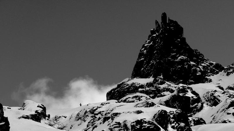 Rylan half way down Alaskita on September 3rd, 2016. photo: miles clark/snowbrains
