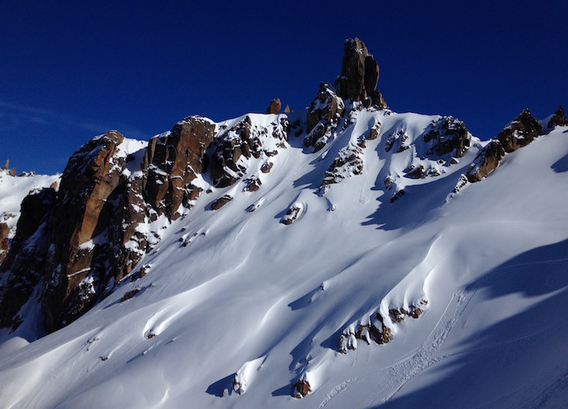 Backcountry near Cerro Catedral in Bariloche, Argentina in August 2016. photo: snowbrains