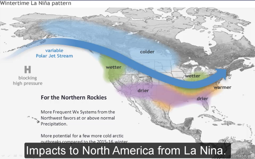 """""""More frequent weather systems for Northwest favors at or above precipitation [for the Northern Rockies]"""" - NOAA, yesterday"""