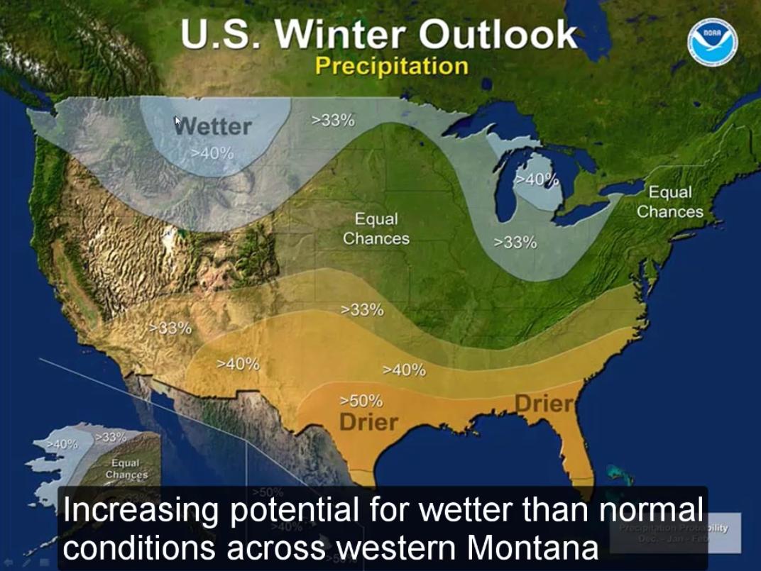 US Winter Outlook Precipitation for Winter 2016/17. image: noaa
