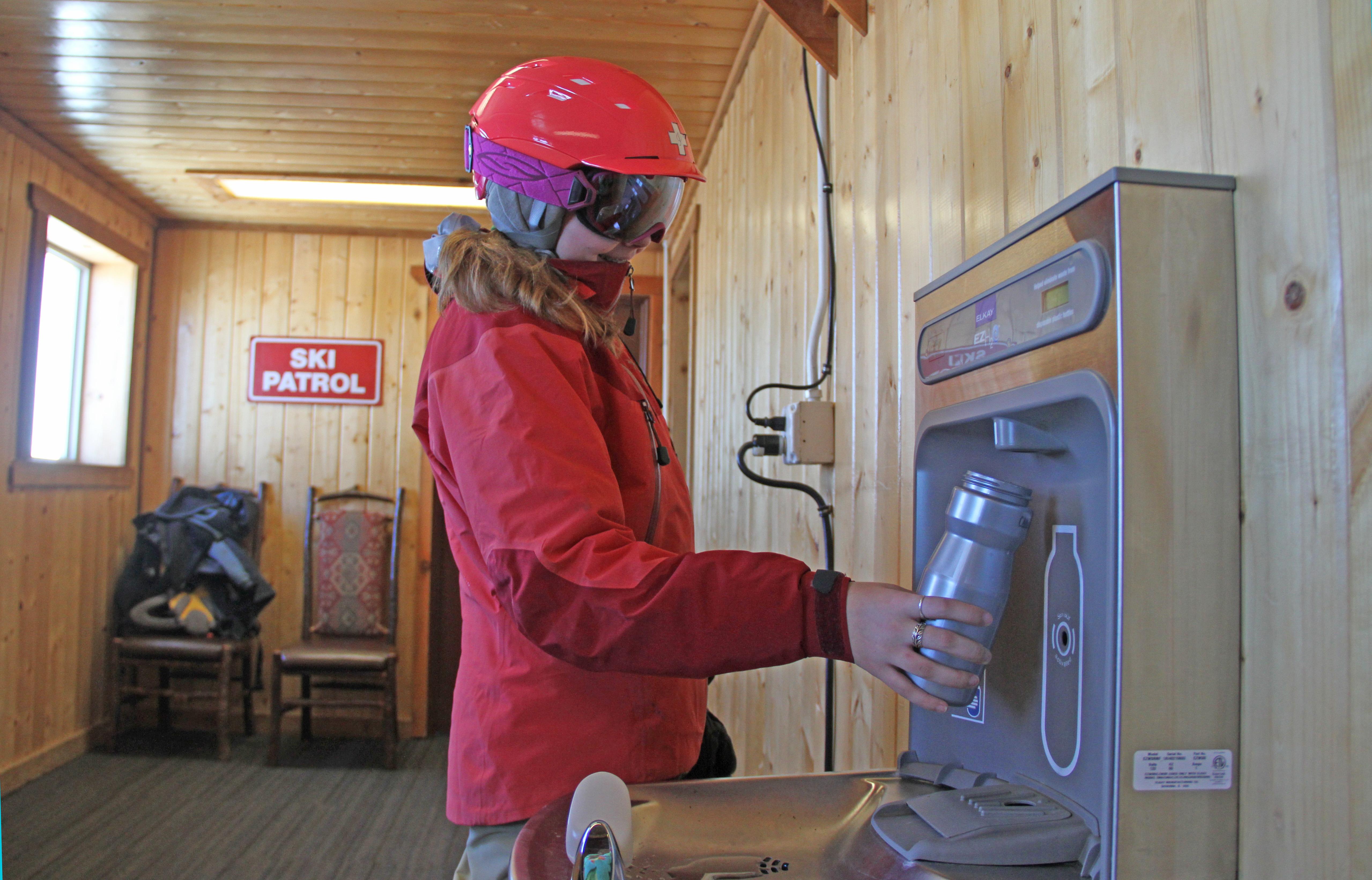 Crystal Mountain refilling station. photo: Bailey Barnard