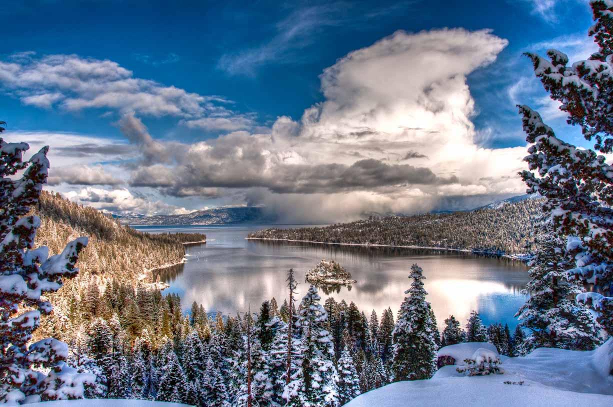 Lake Tahoe Winter Cabin Wallpaper 1 Snowbrains