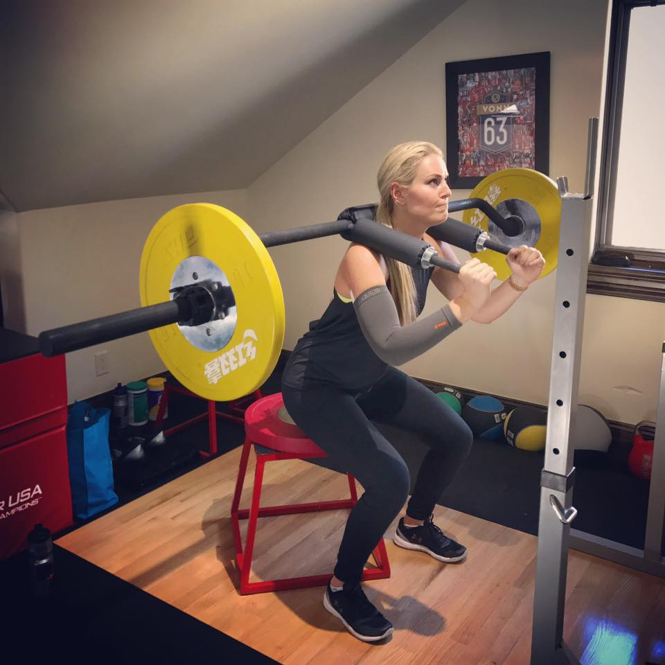 Less than 2 weeks after surgery Lindsey Vonn is working on it. Lindsey Vonn Facebook timeline