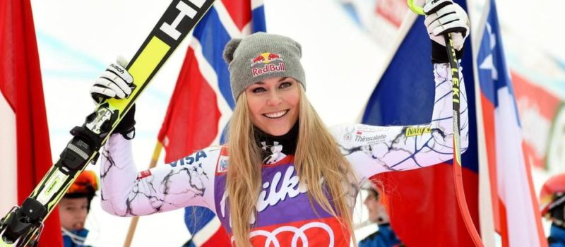 FILE - In this Jan. 9, 2016, file photo, Lindsey Vonn, of the United States, celebrates in the finish area after winning an alpine ski, women's World Cup downhill, in Altenmarkt-Zauchensee, Austria. The four-time overall World Cup champion said the wipeout happened Thursday, Nov. 10, 2016, and had surgery that night in Vail. (AP Photo/Pier Marco Tacca, File) The Associated Press