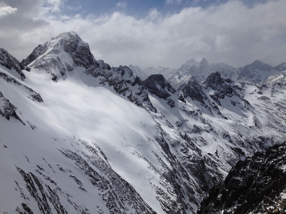 Views from the top at the Marcial Glacier, Ushuaia, Argentina yesterday. photo: snowbrains