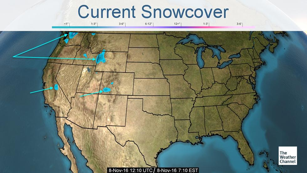 Current Snow Coverage Map Pc The Weather Channel