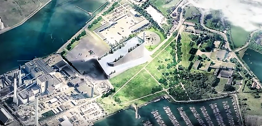 The Amager Bakke power plant will have a year-round ski slope