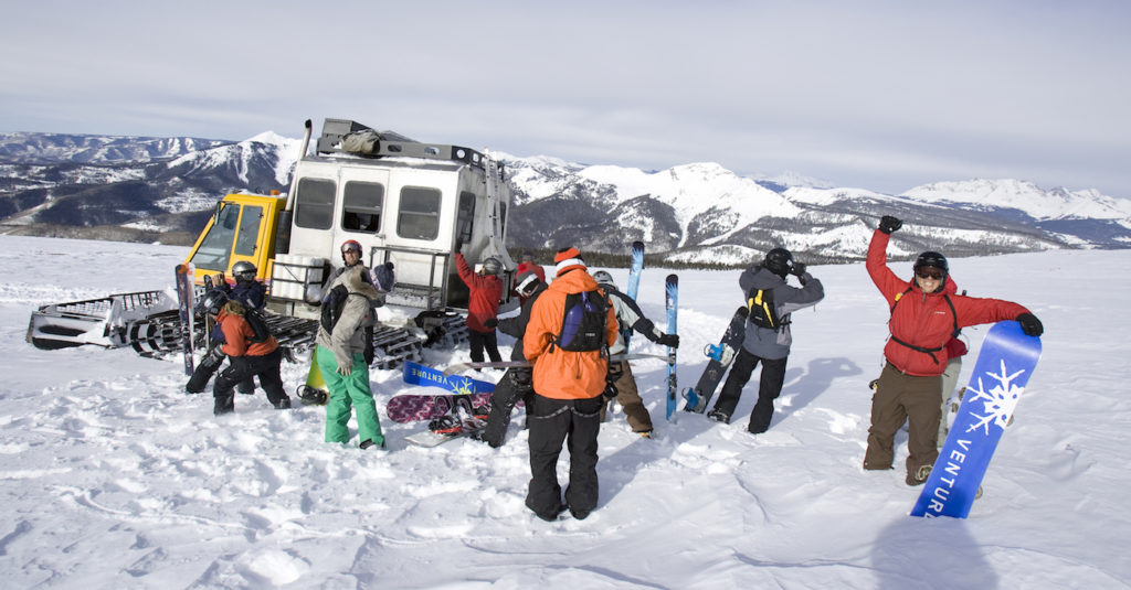 Snowcat Adventures, Snowcat skiing, and Snowboarding, Durango, Colorado Credit: Purgatory Resort/Scott DW Smith