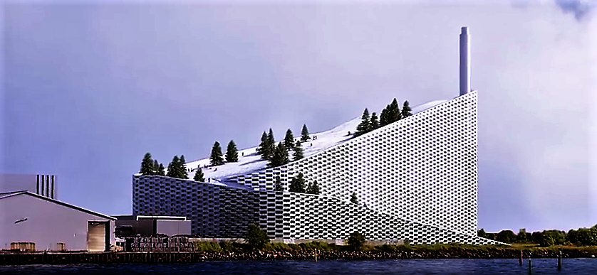year-round ski run was built into the design of the Amager Bakke waste-to-power incinerator plant
