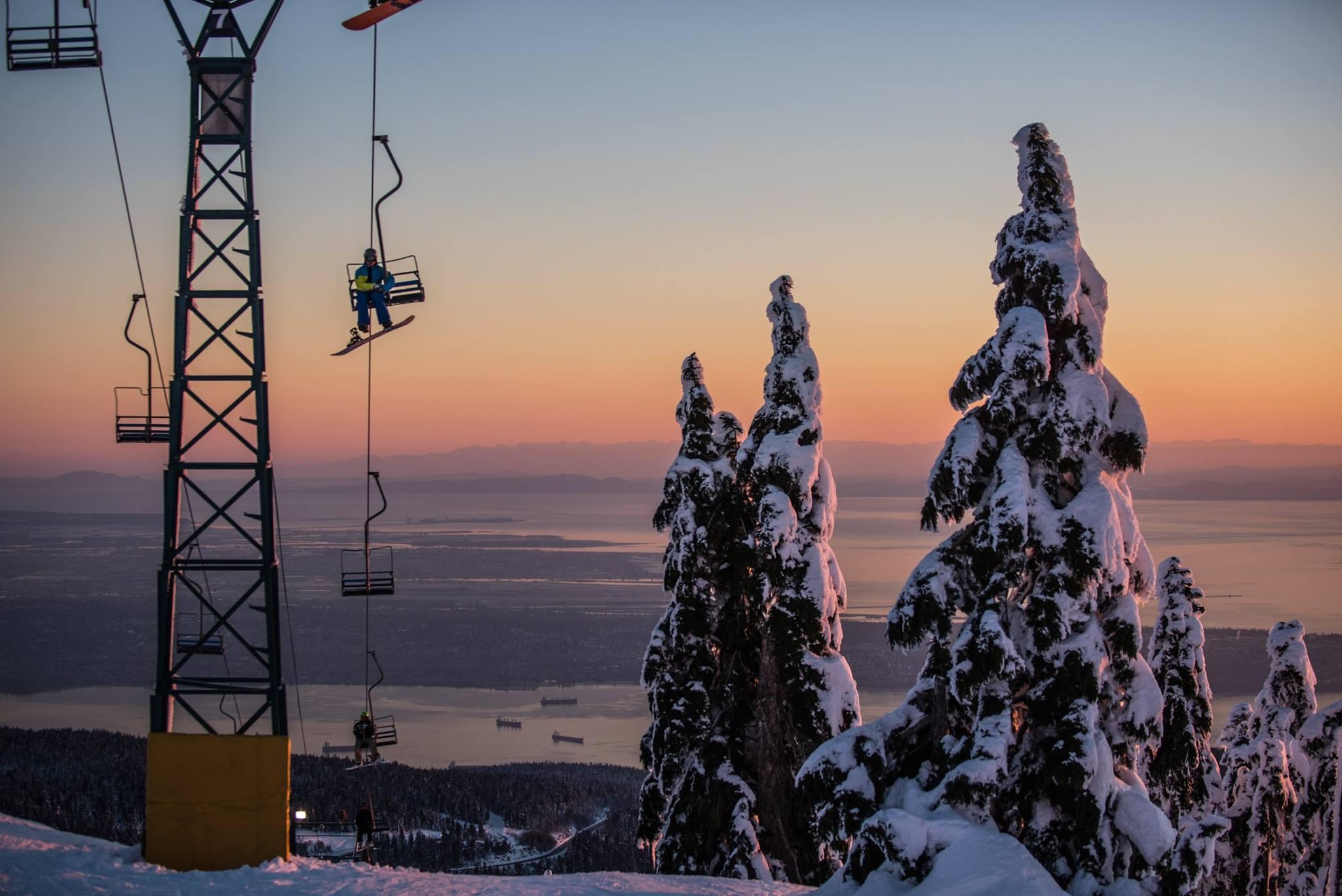 Cypress Mountain, B.C. on December 16th, 2016. photo: Peter Lonergan