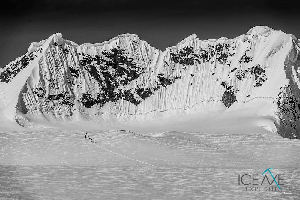 Yes, there are mountains in Antarctica. image: Court Leve/Ice Axe Expeditions