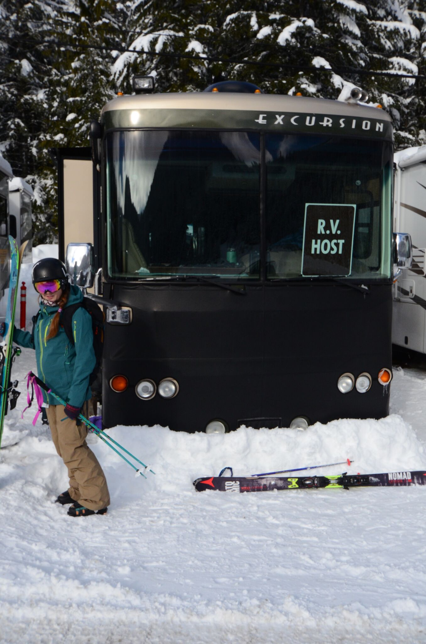 R.V. Host is an official title at Crystal Mountain! PC: John Kochevar