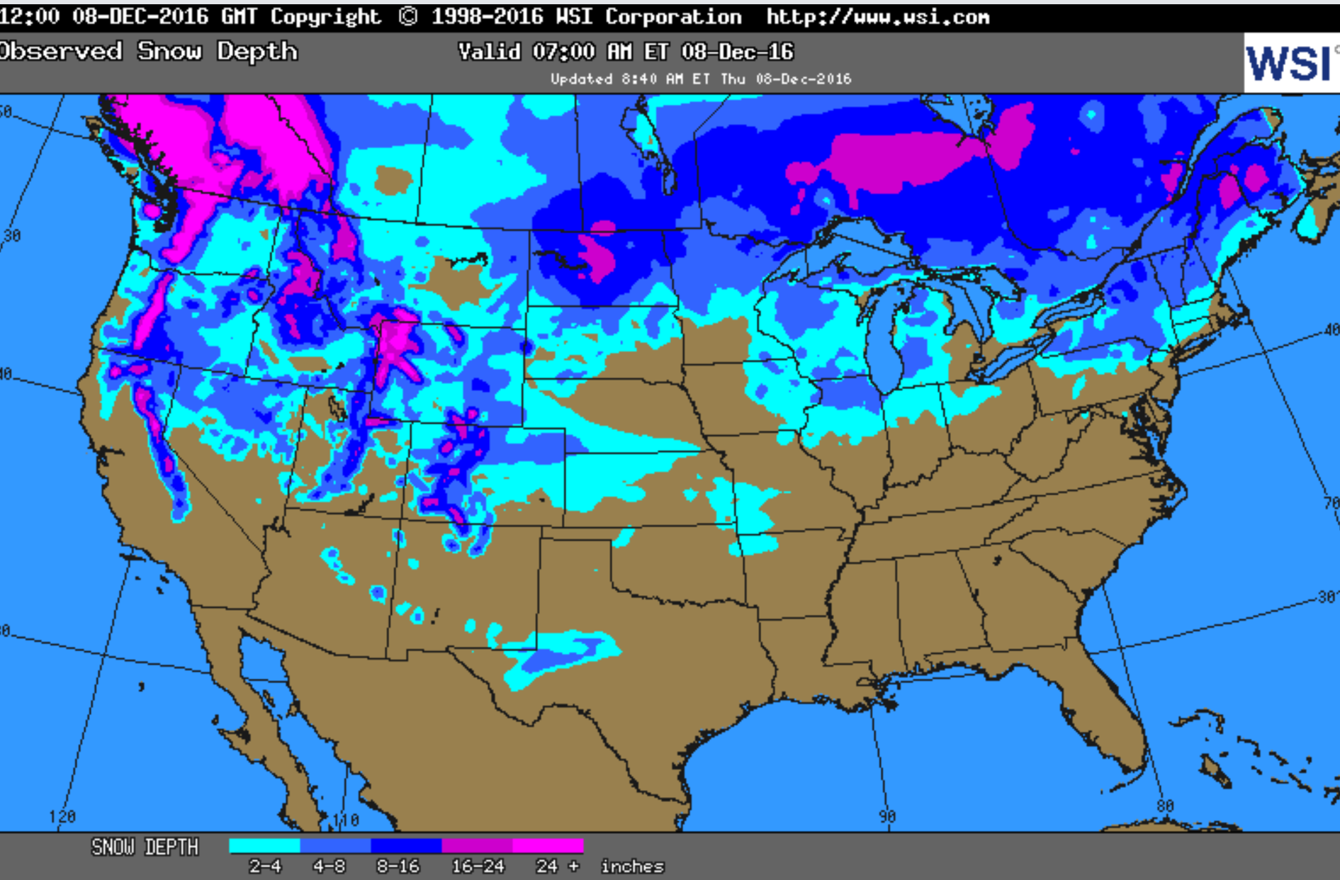 Michigan Is In The Bullseye For Snow Cover In The United States