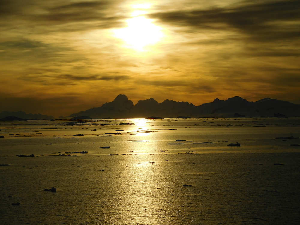 Sunset in Antarctica. Simply stunning... image: miles clark