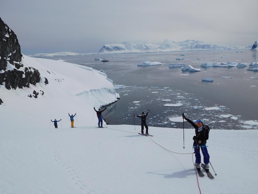 Miles' crew happy on Ronge Island. image: miles clark