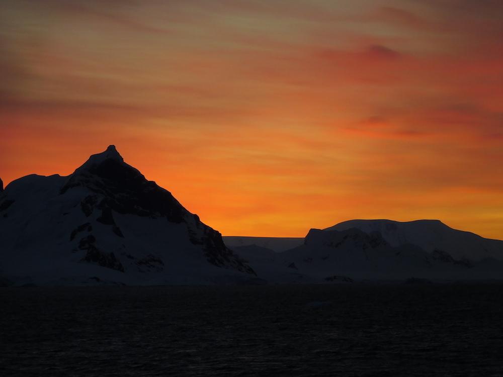 Antarctic sunset. image: miles clark