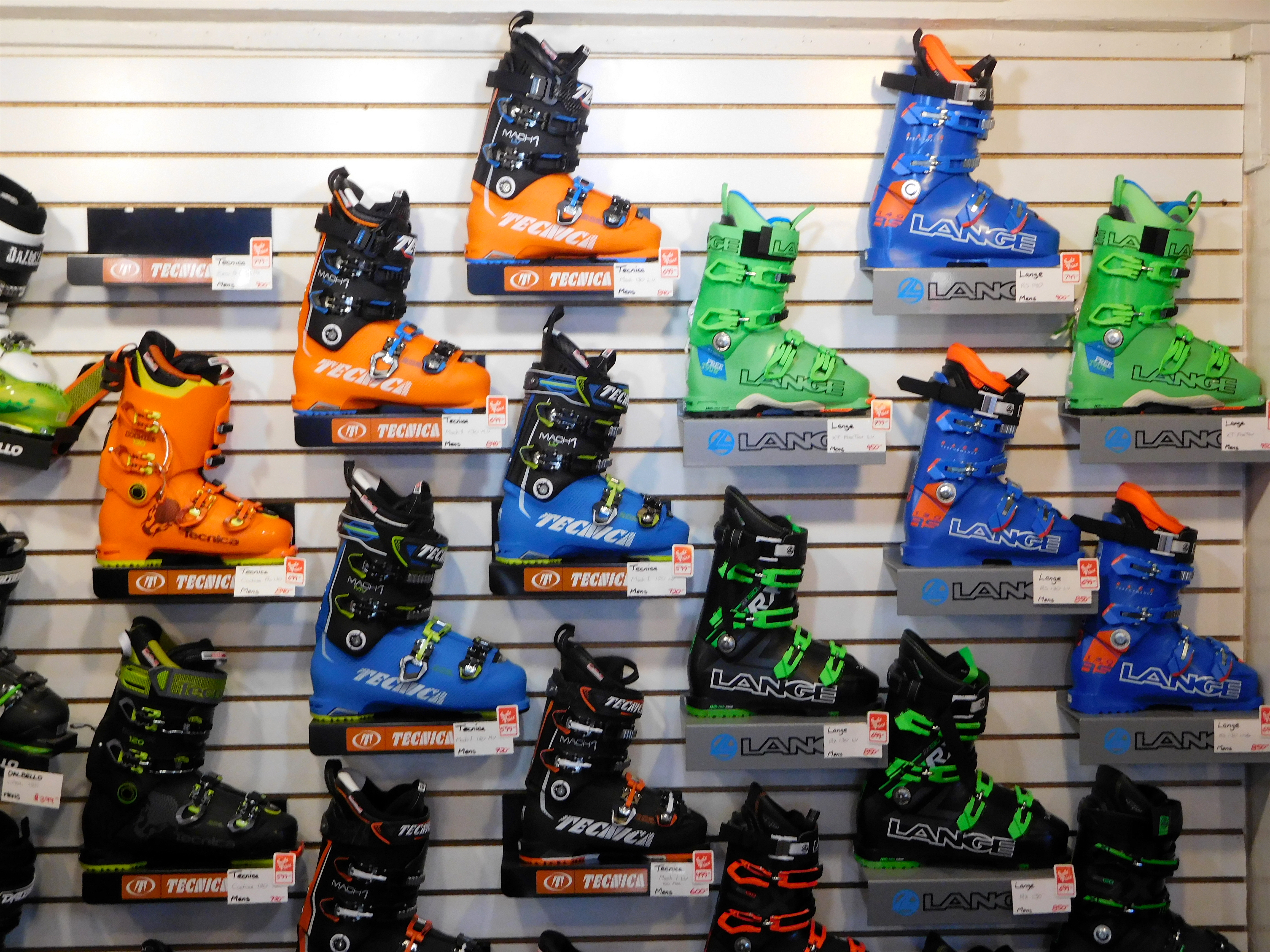 Boots galore at Olympic Bootworks.