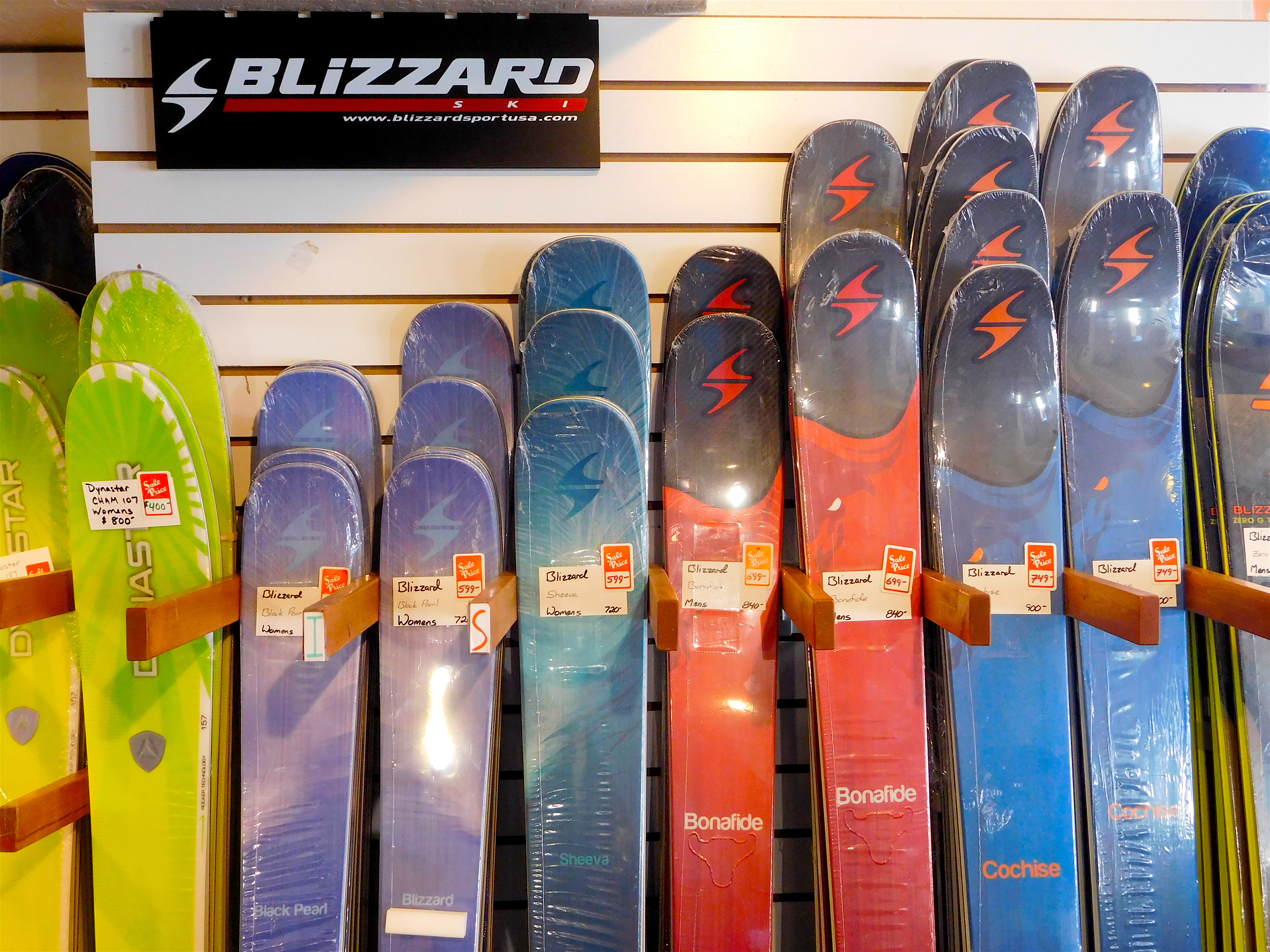 Blizzard skis for sale at Olympic.
