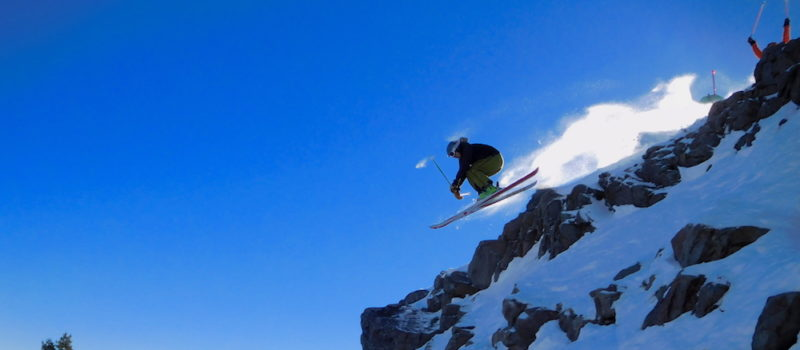 Alan hucking meat at Alpine yesterday.  image:  snowbrains