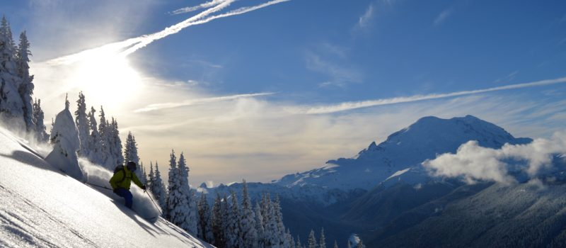 backcountry skiing pnw mount rainier