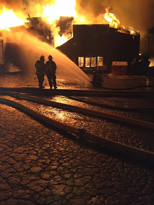 Battling the blaze. Image: North Tahoe Fire Protection District