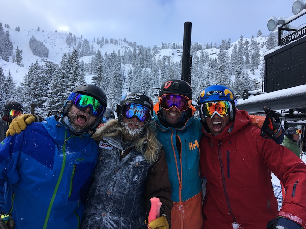Fing stoked to have been skiing with this stellar crew. Left to right: Jigga, Jaren, Miles, Chuck Patterson