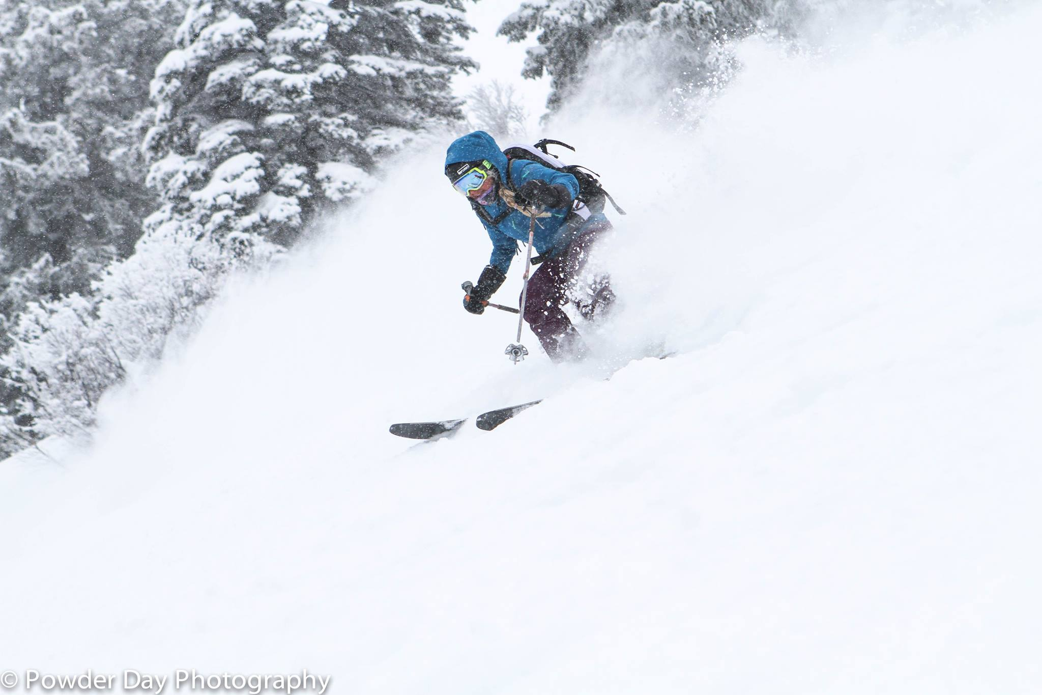 Slashing POW at Targhee. PC: Powder Day Photography
