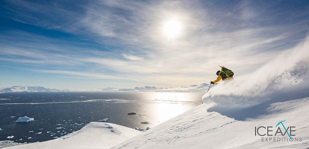 Brennnan Legasse tearing it up. image: Court Leve/Ice Axe Expeditions