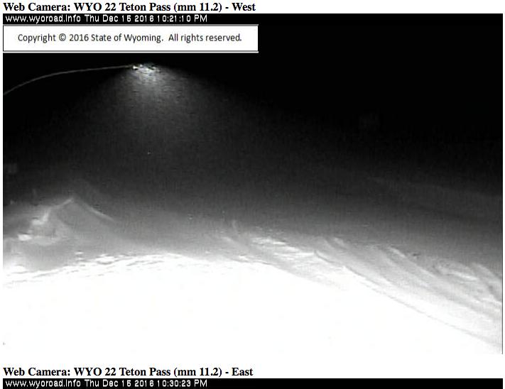 Teton Pass right now.