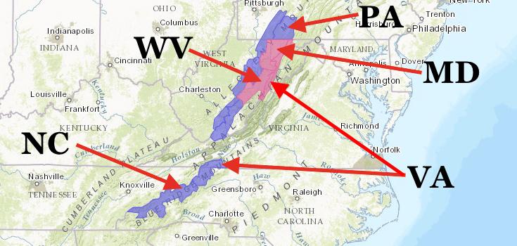 PINK = Winter Storm Warning. PURPLE = Winter Weather Advisory. image: noaa, today