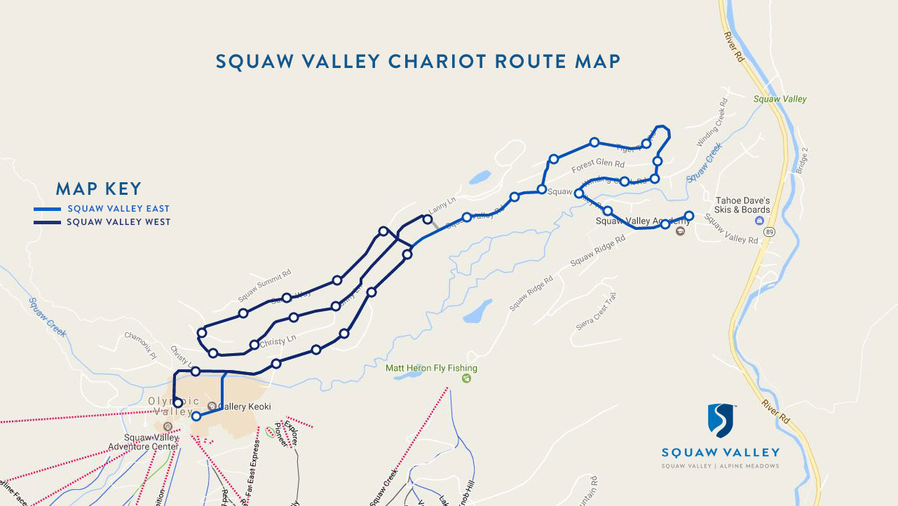 Squaw Chariot pick up map.