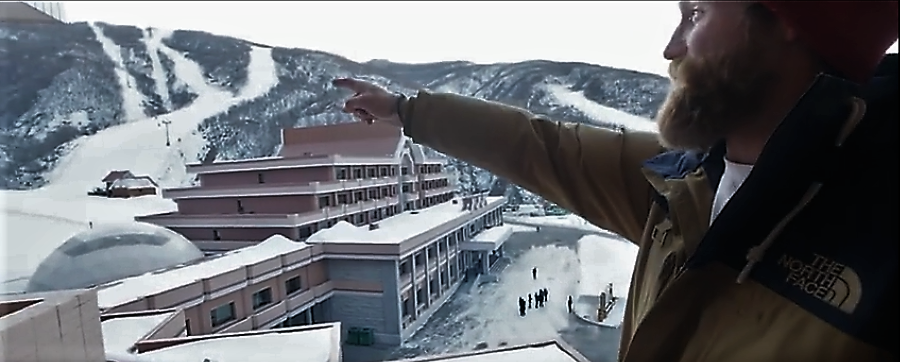 Sam Smoothy checks into his room at Add to dictionary resort in North Korea