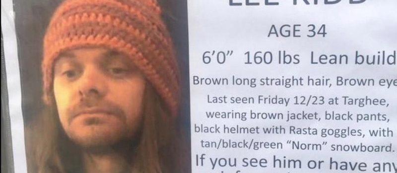Lee Kid's missing poster
